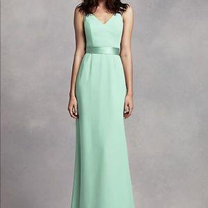 David's Bridal Mint Green Bridesmaids Dress